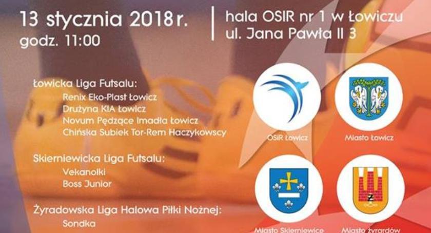 Piłka nożna, Futsalowa Mistrzów Łowiczu - zdjęcie, fotografia