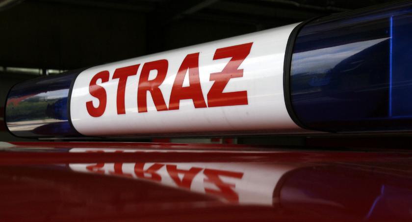 Interwencje straży pożarnej, Pożar Bednarach Paliło drewno - zdjęcie, fotografia