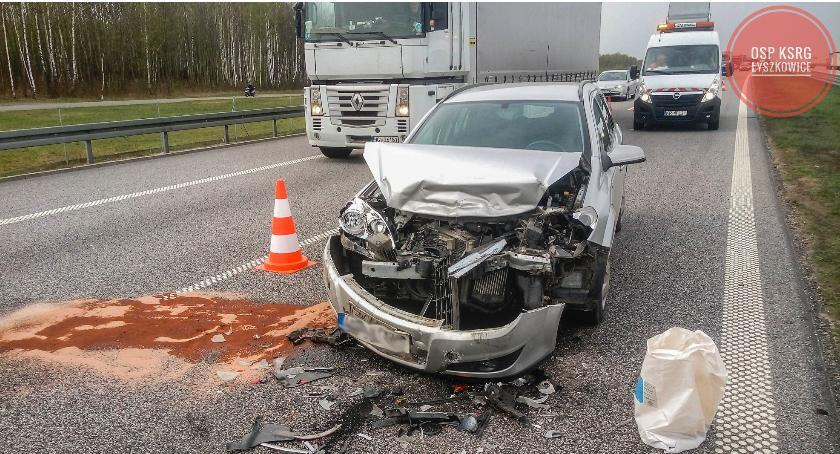 Wypadki i kolizje, zderzyły autostradzie powiecie łowickim - zdjęcie, fotografia