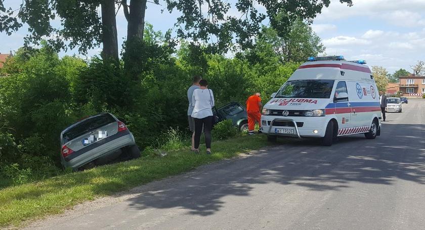 Wypadki i kolizje, Zdarzenie drogowe Chruślinie - zdjęcie, fotografia