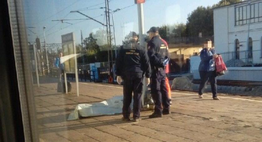 Kronika policyjna, Śmierć stacji kolejowej Łowiczu - zdjęcie, fotografia