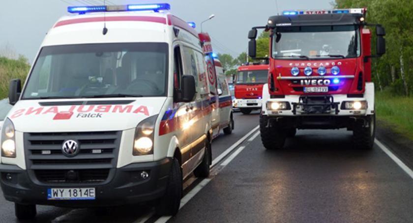 Wypadki i kolizje, Borówek obywatel Ukrainy ucierpiał wypadku drogowym - zdjęcie, fotografia