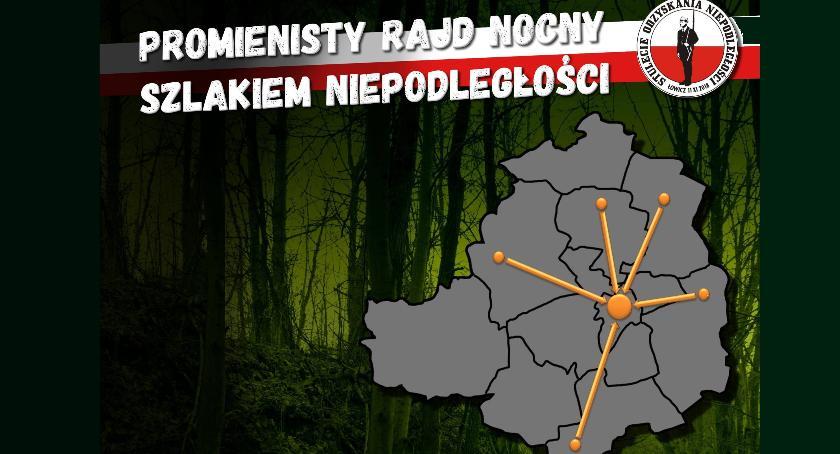 Stowarzyszenia, Łowicki Promienisty Nocny szlakiem niepodległości - zdjęcie, fotografia
