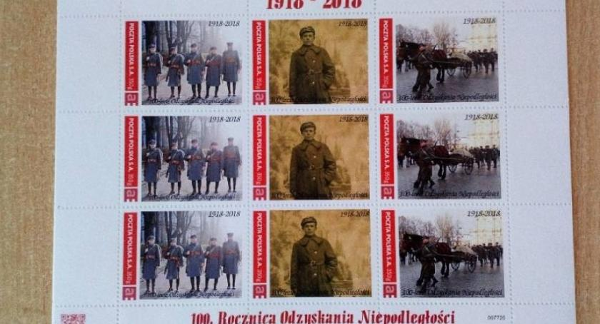 Stowarzyszenia, Łowickie znaczki lecie odzyskania niepodległości - zdjęcie, fotografia
