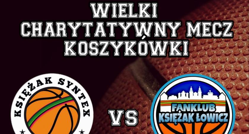 Koszykówka, Charytatywny koszykówki Szymona Kołaczyńskiego Łowicza - zdjęcie, fotografia
