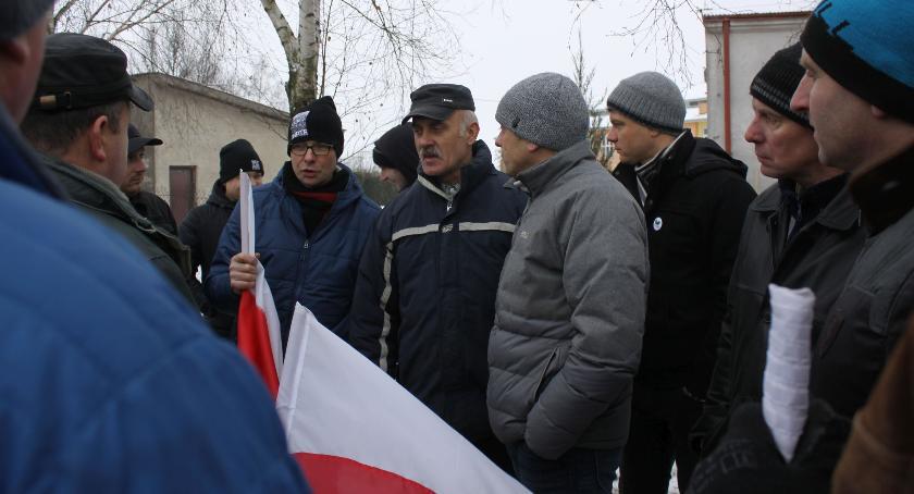 Gospodarka, Protest rolników Łowickiem (ZDJĘCIA VIDEO) - zdjęcie, fotografia
