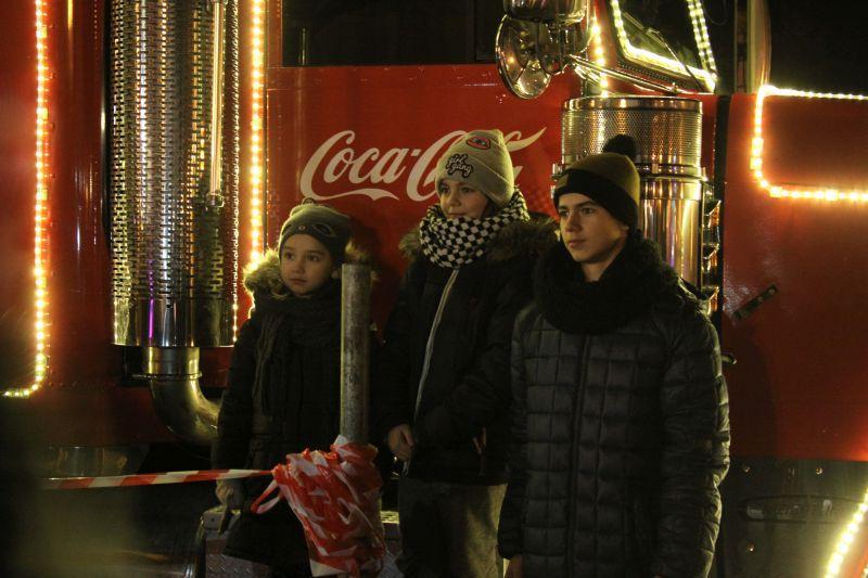 Spotkania, Świąteczna ciężarówka zawitała Łowicza - zdjęcie, fotografia