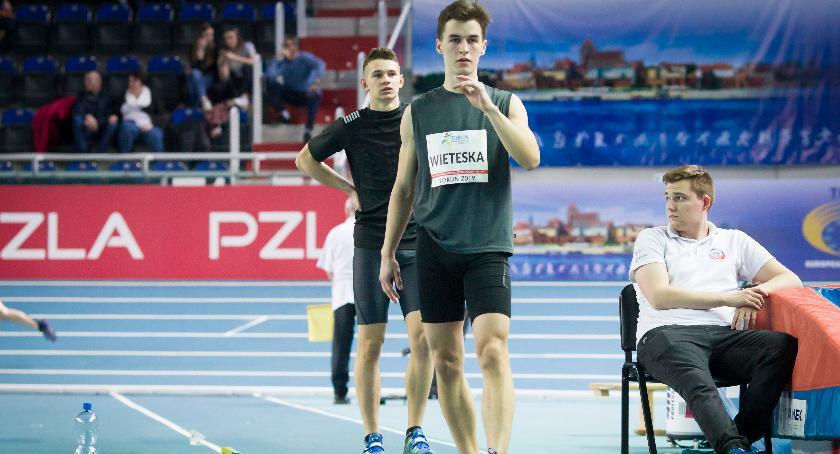 Lekkoatletyka, rekord wysokie miejsce Tomka Wieteski halowych mistrzostwach Polski - zdjęcie, fotografia