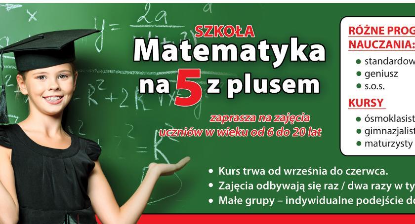 Art. sponsorowany, Matematyka dzieci Łowiczu Szkole Matematyka plusem - zdjęcie, fotografia