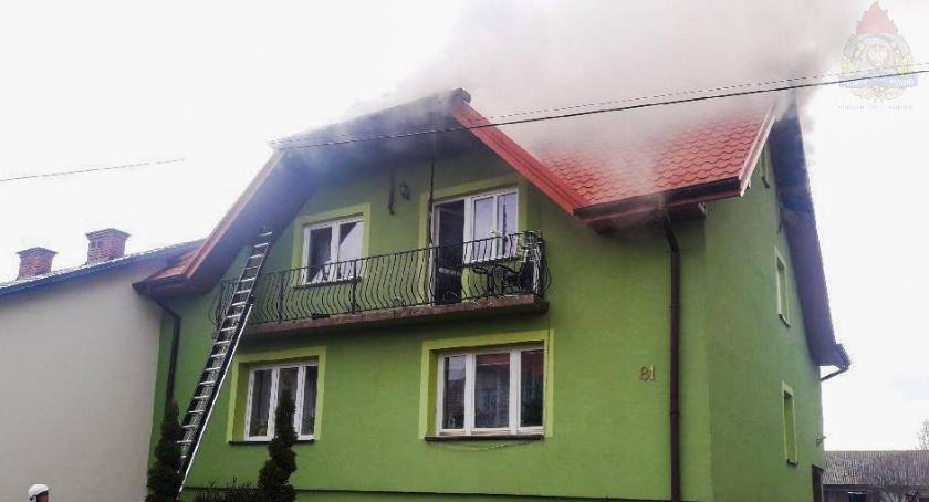 Interwencje straży pożarnej, Pożar budynku mieszkalnego Stachlewie - zdjęcie, fotografia