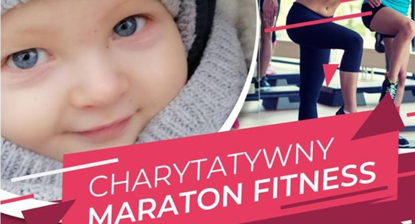 Wasze sprawy, Charytatywny maraton fitness Łowiczu trening wesprzyj chorego Krzysia - zdjęcie, fotografia