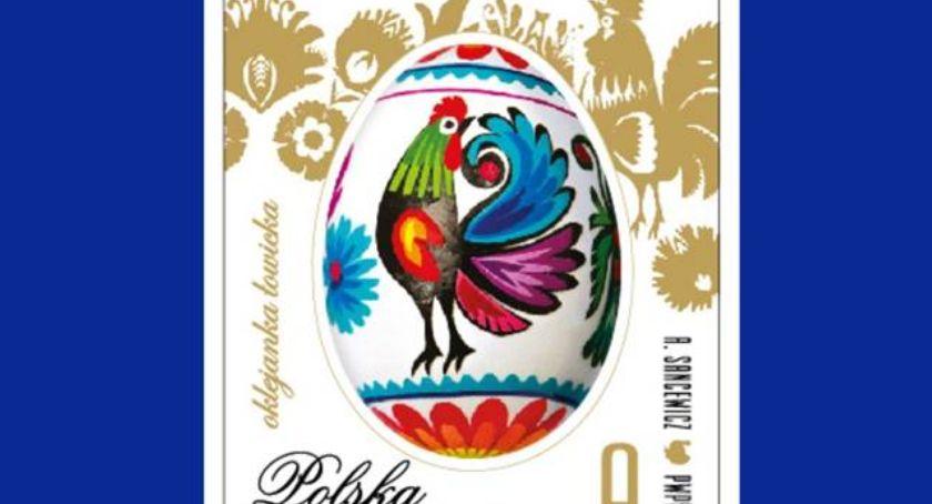 Spotkania, Łowicki akcent wielkanocnej serii znaczków Poczty Polskiej - zdjęcie, fotografia