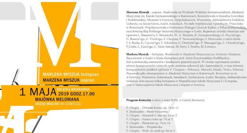 Koncerty, Majówka Melomana Łowiczu (program) - zdjęcie, fotografia