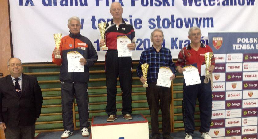 Tenis stołowy, Zdzisław Orzechowski trzeci Grand Polski Weteranów - zdjęcie, fotografia