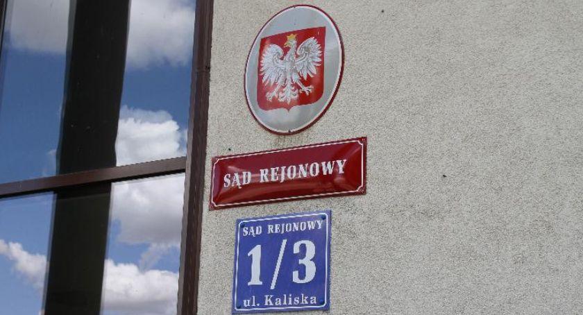 Z sali rozpraw, orzekł wyrok pozbawienia wolności Radosława Soboty - zdjęcie, fotografia