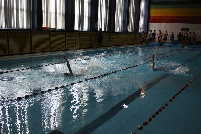 Pływanie, Gimnazjaliści ścigali pływalni - zdjęcie, fotografia