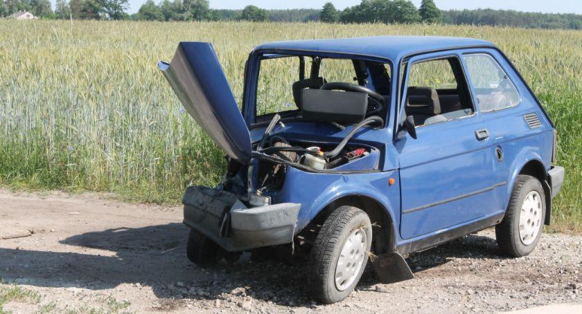 Wypadki i kolizje, osoby poszkodowane wypadku drogowym Łaguszewie - zdjęcie, fotografia