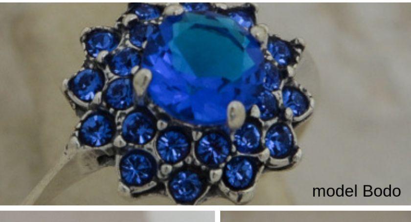 Art. sponsorowany, Szafiry lupą czyli srebrne pierścionki niebieskimi kamieniami warto wiedzieć - zdjęcie, fotografia