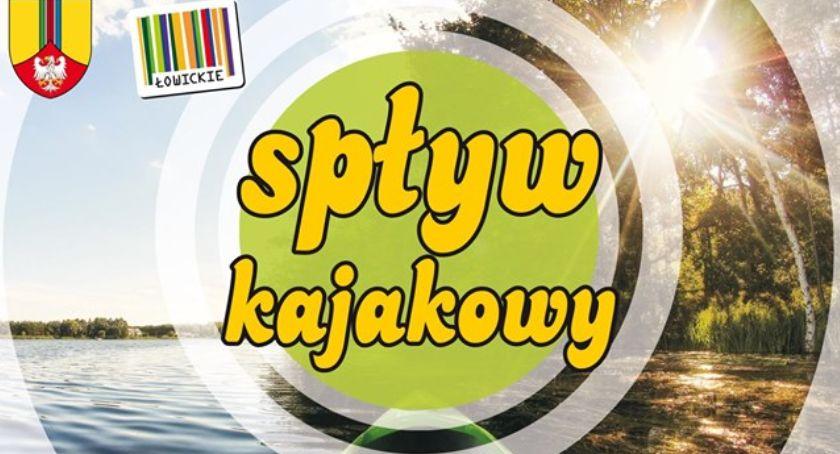 Rajdy, niedzielę spływ kajakowy Łowicza Kompiny - zdjęcie, fotografia