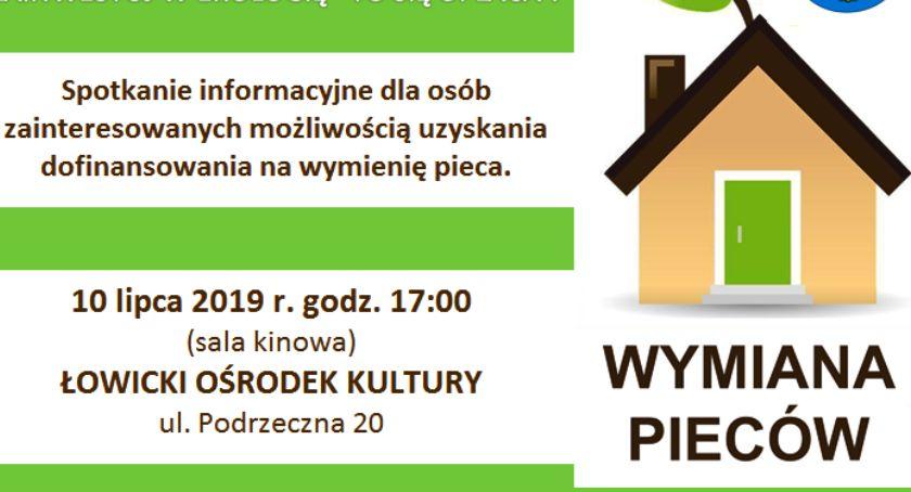 Urząd Miejski, Spotkanie mieszkańców Łowicza zainteresowanych dotacją wymianę pieca - zdjęcie, fotografia