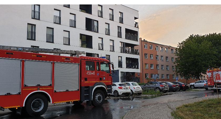 Interwencje straży pożarnej, Trwają interwencje straży - zdjęcie, fotografia