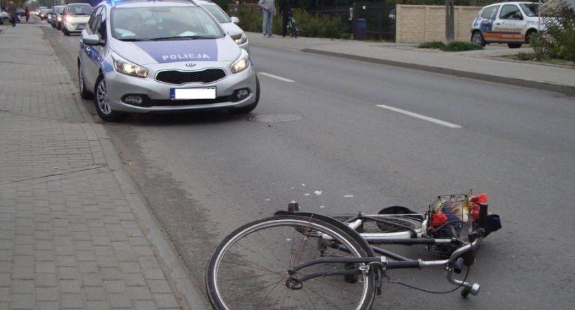Wypadki i kolizje, Kolizje udziałem rowerzystów Łęczyckiej - zdjęcie, fotografia