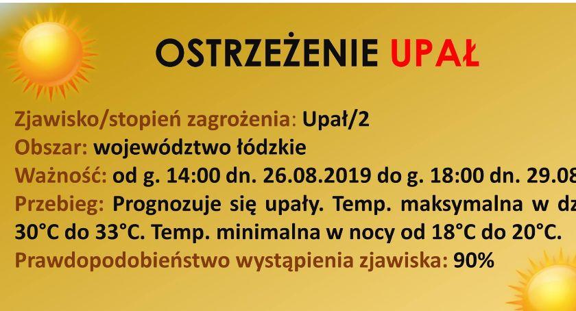 Urząd Miejski, Upalny ostatni tydzień wakacji wydał ostrzeżenie - zdjęcie, fotografia