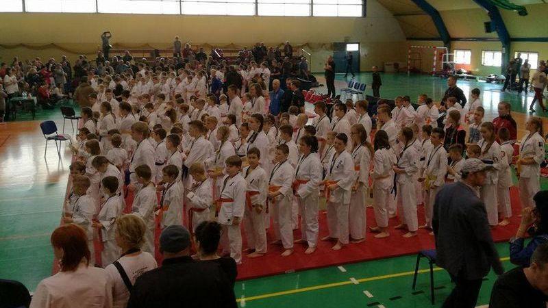 Sporty walki, karatecy walczyli tylko rywalami - zdjęcie, fotografia