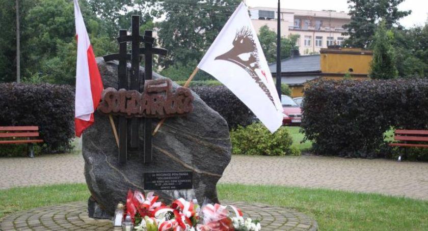 Stowarzyszenia, weekend uroczyste obchody rocznicy powstania Solidarność Łowiczu - zdjęcie, fotografia