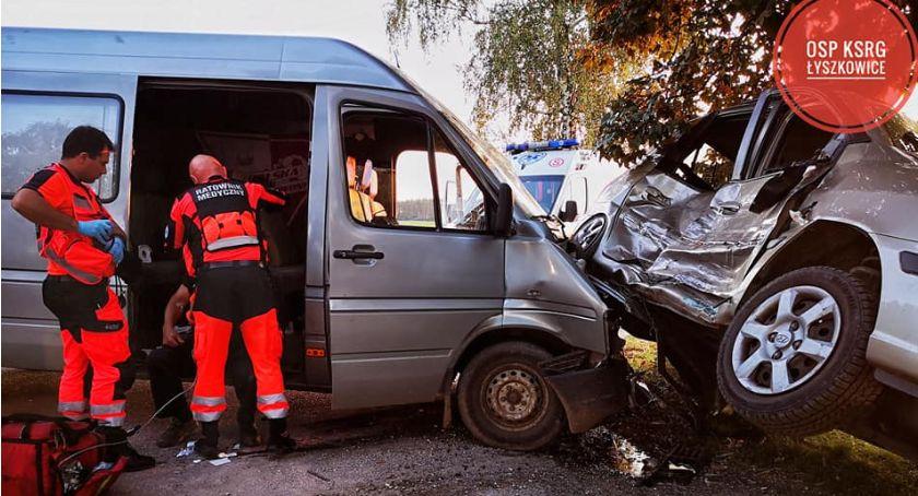 Wypadki i kolizje, Wypadek Zawadach Łowiczem - zdjęcie, fotografia