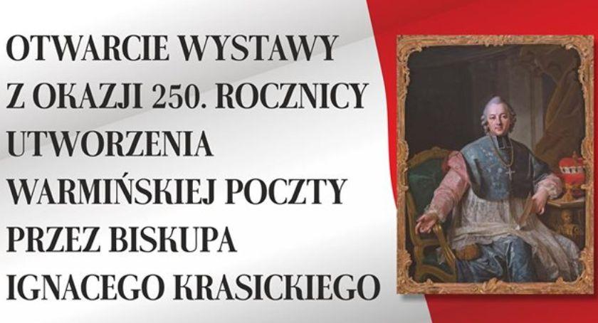 Wystawy, WYSTAWA Warmińskiej Poczcie utworzonej przez Biskupa Ignacego Krasickiego - zdjęcie, fotografia