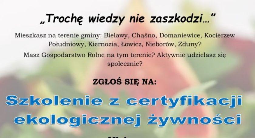 Wasze sprawy, Szkolenie certyfikacji ekologicznej żywności - zdjęcie, fotografia
