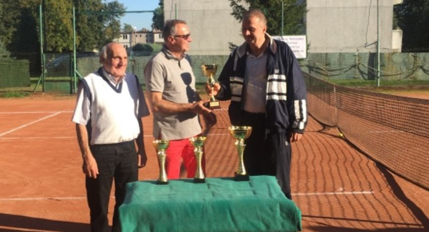 Inne, Waldemar Żemło Aneta Budzałek najlepsi turnieju tenisa ziemnego Łowiczu - zdjęcie, fotografia