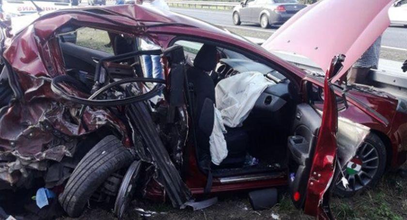 Wypadki i kolizje, Poważny wypadek autostradzie kierunku Warszawy Droga zablokowana - zdjęcie, fotografia