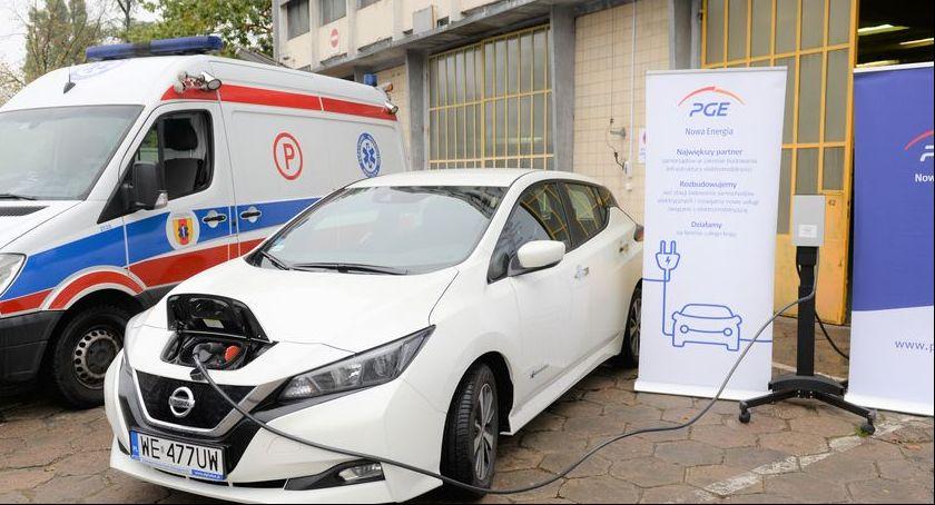 Gospodarka, Łowiczu powstanie stacja ładowania samochodów elektrycznych - zdjęcie, fotografia