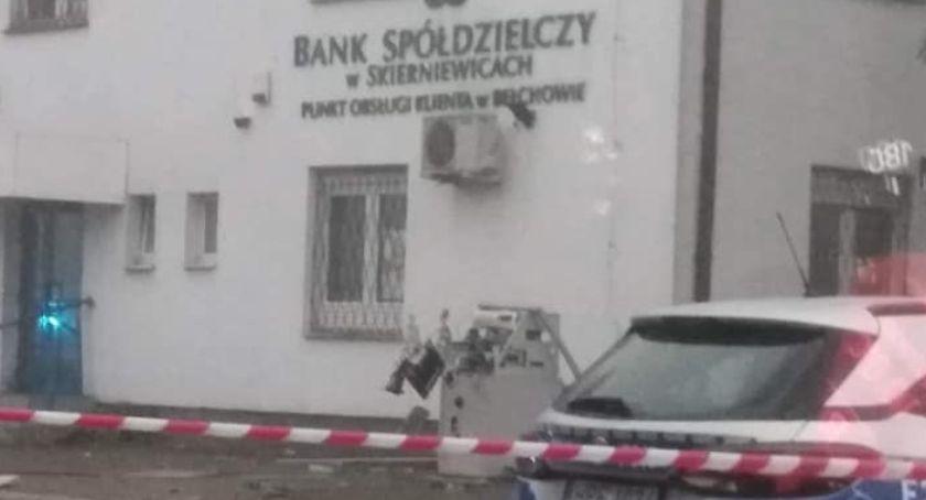 Kronika policyjna, Wybuch bankomatu Bełchowie Policja szuka sprawców - zdjęcie, fotografia