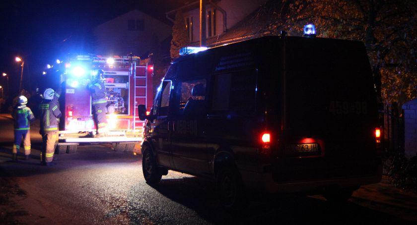 Straż Pożarna, Pożar kotłowni Dąbkowicach Górnych - zdjęcie, fotografia