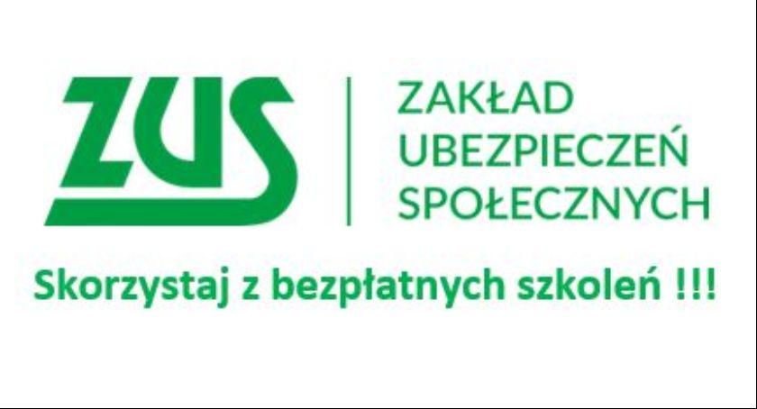 Informacje ZUS i US, zaprasza bezpłatne szkolenia - zdjęcie, fotografia