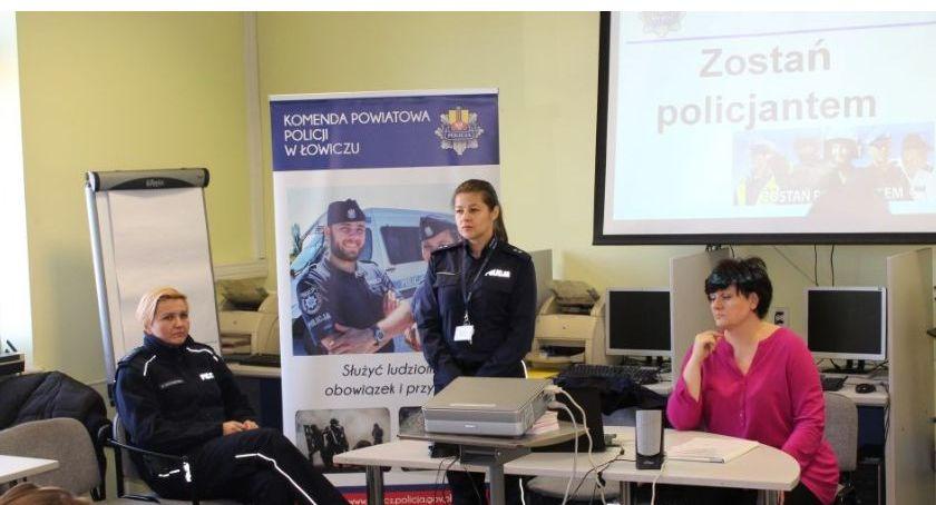 Komunikaty policji , Zostań Policjantem spotkanie Łowicz - zdjęcie, fotografia