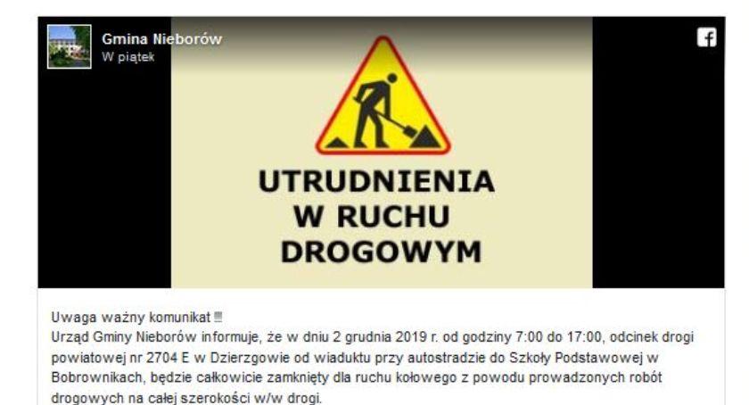 Inwestycje, Droga między Dzierzgowem Bobrownikami będzie nieprzejezdna - zdjęcie, fotografia