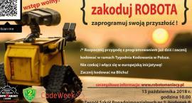 """Warsztaty: """"Zakoduj ROBOTA – zaprogramuj swoją przyszłość"""", które są częścią europejskiego wydarzeni"""