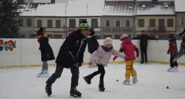 Stawiali pierwsze kroki na lodowisku