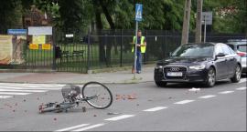 Potrącenie rowerzystki na Klickiego