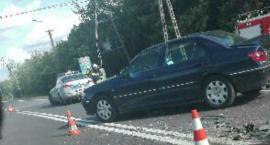 Zderzenie czterech aut na DK 70 w Mysłakowie