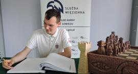 Polski król szachów z wizytą w ZK w Łowiczu