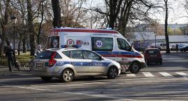 Rowerzystka została przewieziona do szpitala