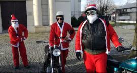 Zmotoryzowani Mikołajowie na łowickim rynku i w szpitalu