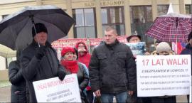 Pikieta w obronie Grzegorza Kotucha z Nieborowa