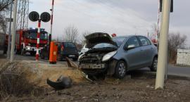 Zdarzenie drogowe na przejeździe kolejowym w Łowiczu (aktualizacja)