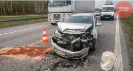 Trzy auta zderzyły się na autostradzie A2 w powiecie łowickim